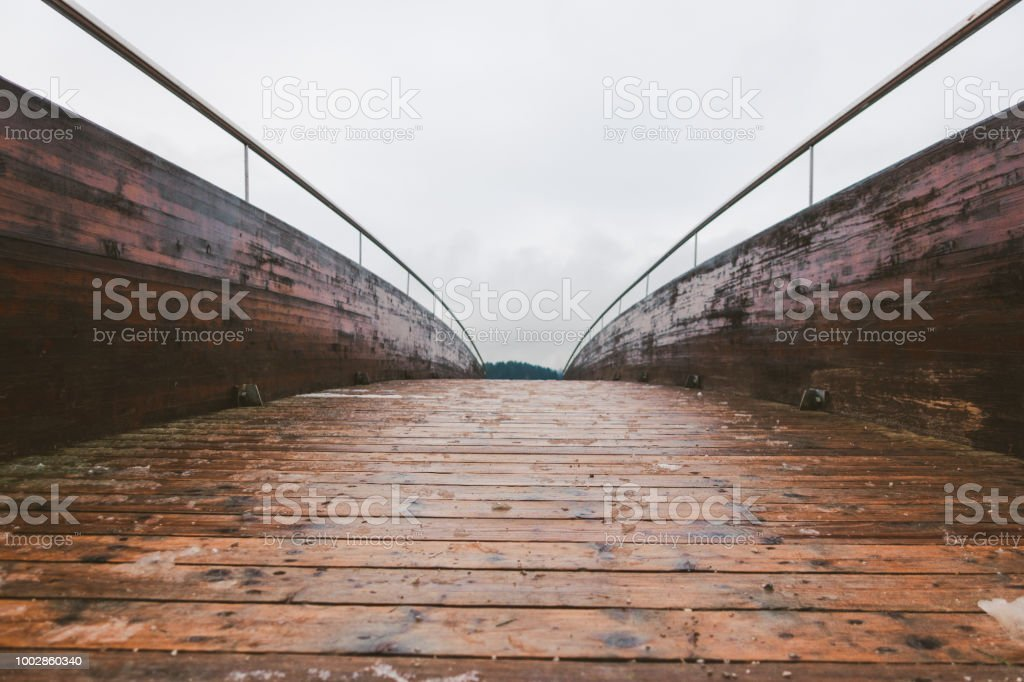 Wooden Bridge In First Snow Stock Photo Download Image Now Istock