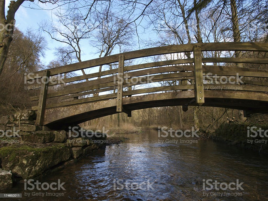 Wooden Bridge royalty-free stock photo