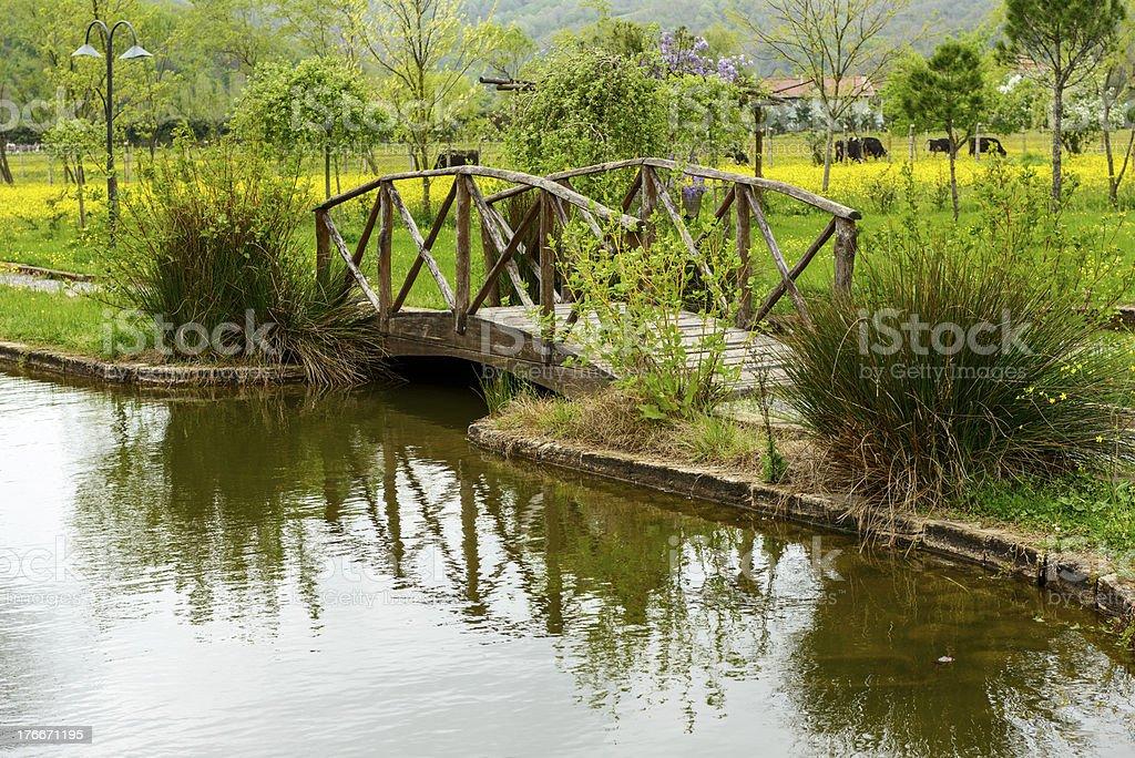 Puente de madera foto de stock libre de derechos