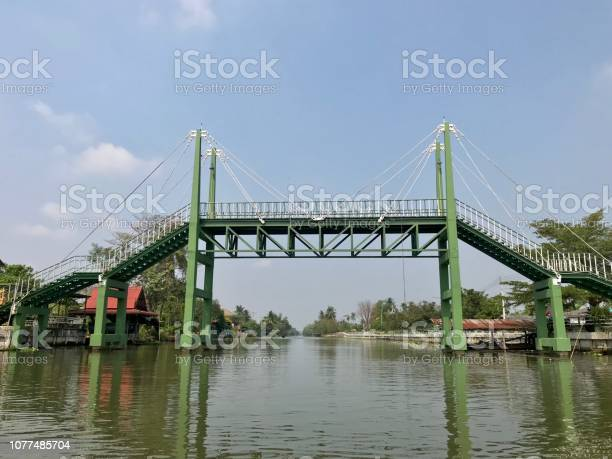 Photo of Wooden bridge to cross the river