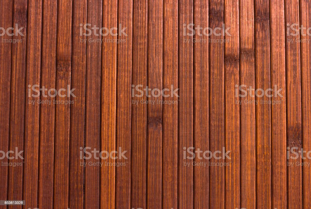 Wooden brown background. Smooth polished wood stock photo