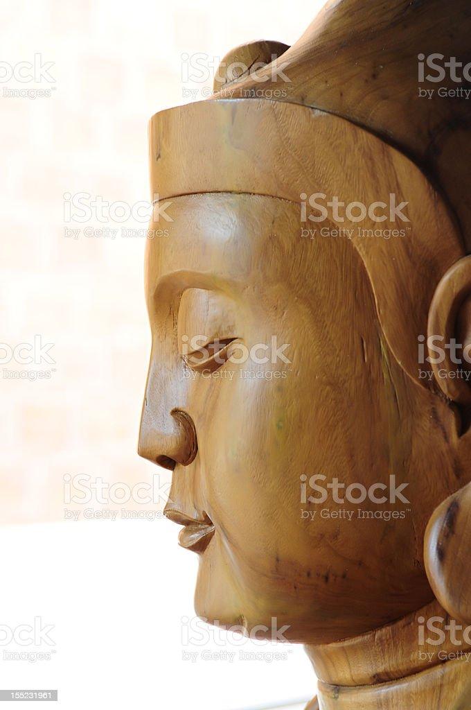 Wooden Buddha Statue stock photo