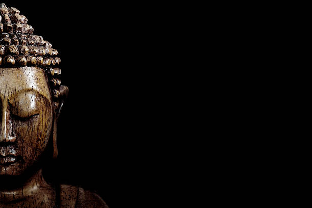 wooden buddha statue - buddha stock photos and pictures