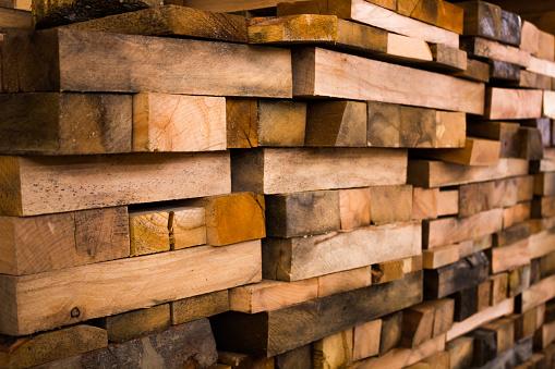 Wooden building beams