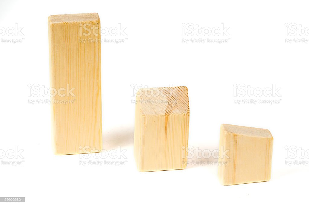 wooden building blocks different forms Lizenzfreies stock-foto