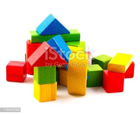 istock Wooden building blocks 173431250