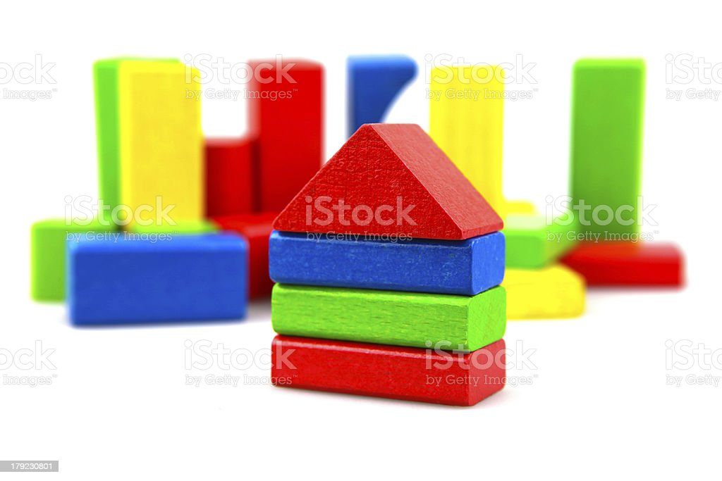 Wooden building blocks royalty-free stock photo