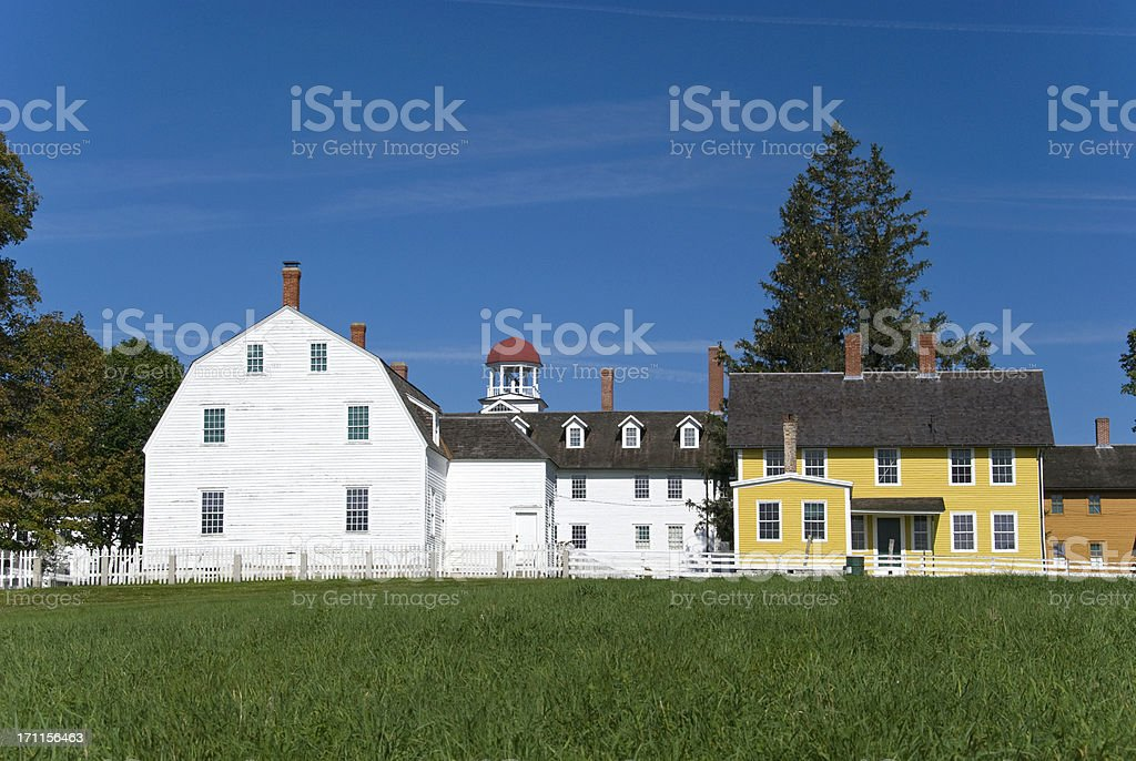 Wooden Buildings in New England stock photo