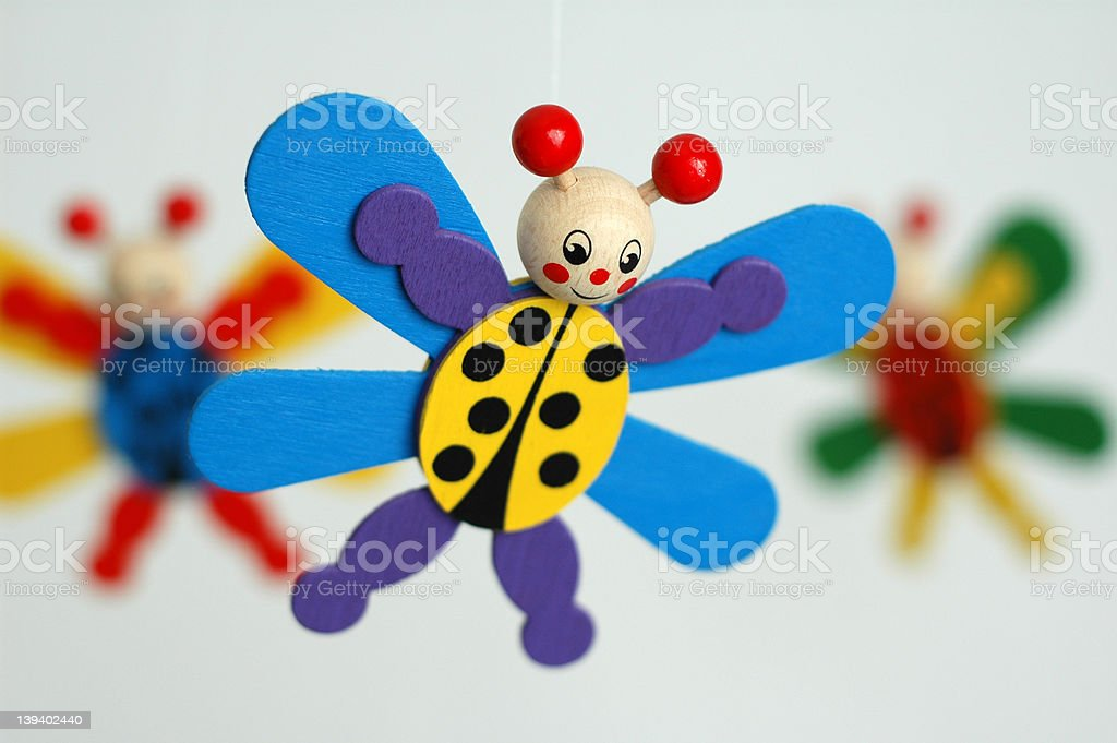 wooden butterfly royalty-free stock photo