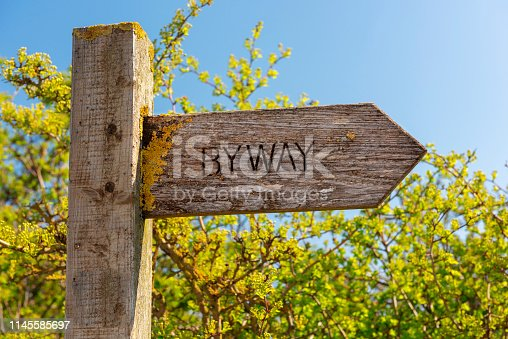 There are many footpaths and trails in Lincolnshire and directions are shown by wooden signposts designating byways, bridleways and footpaths.