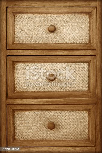 istock Wooden cabinet drawers background 476879993