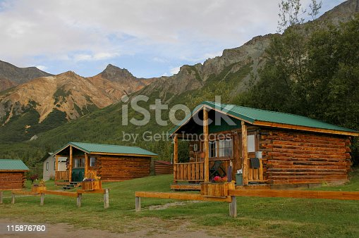 Cabin accommodation in Alaska.