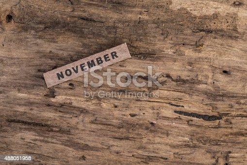 488008496istockphoto wooden calendar for november 488051958