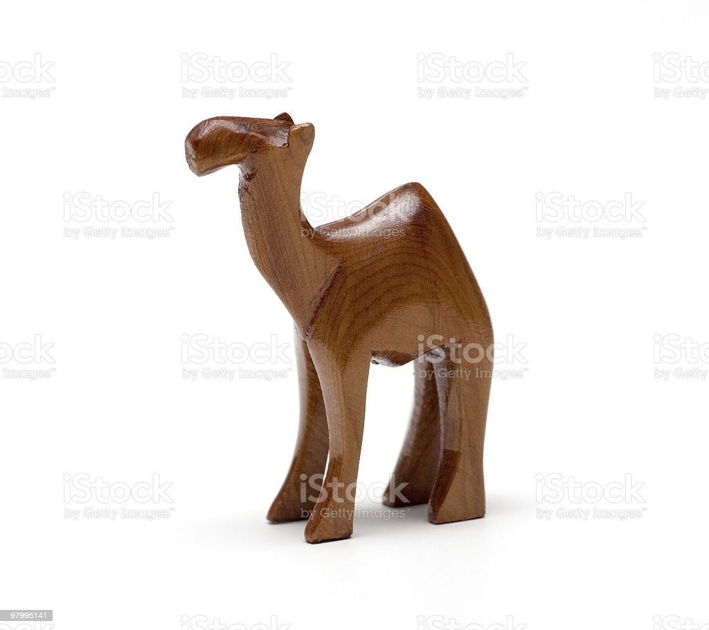 wooden camel royalty free stockfoto