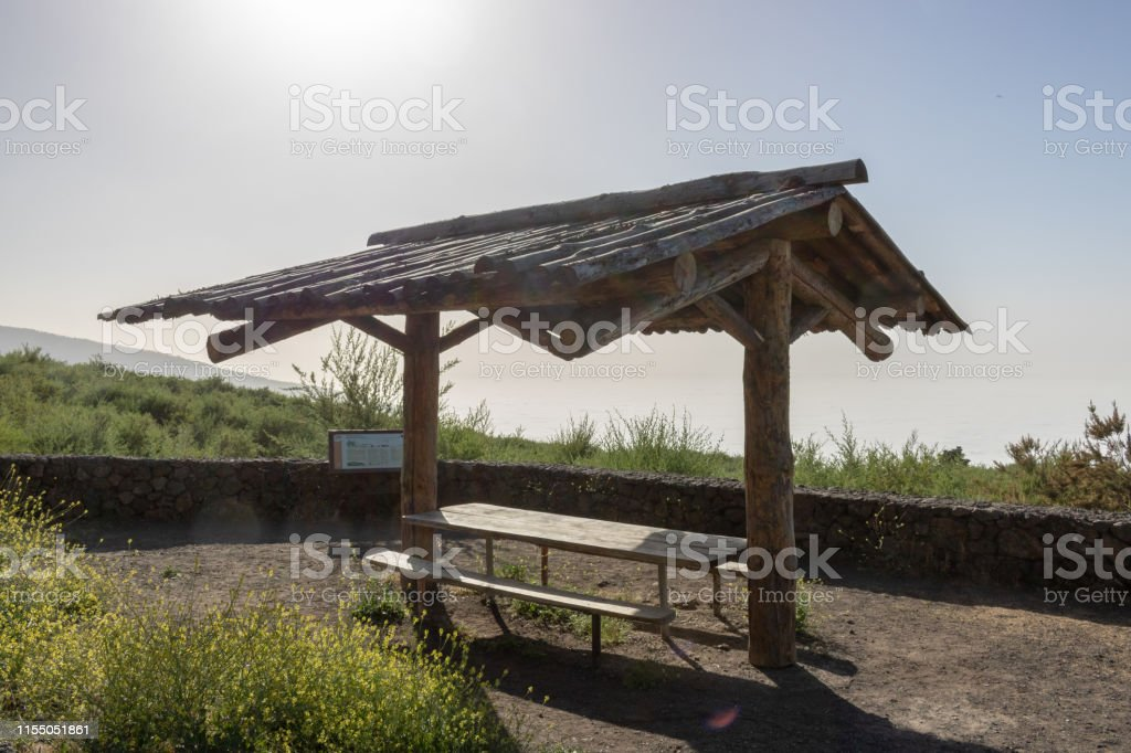 Fabulous Wooden Canopy With Table And Benches On Observation Deck Ibusinesslaw Wood Chair Design Ideas Ibusinesslaworg