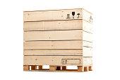 wooden cargo box