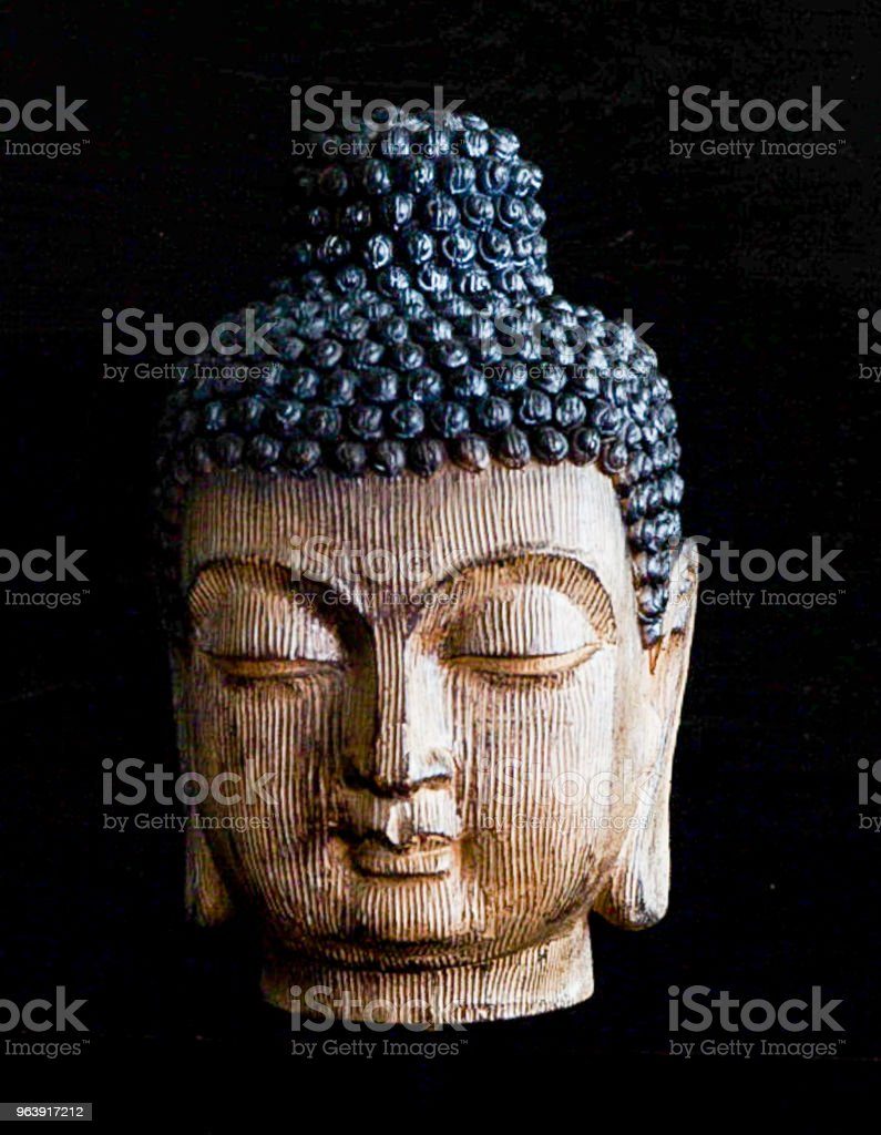 Wooden Carved Buddhist Head - Royalty-free Ancient Stock Photo