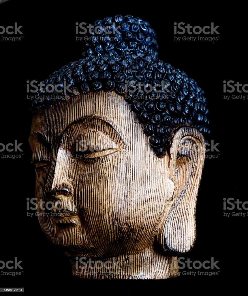 Wooden Carved Buddist Head - Royalty-free Ancient Stock Photo