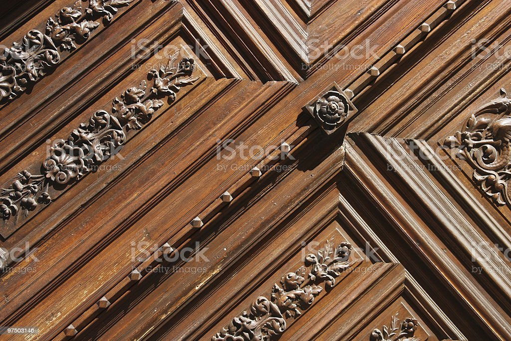 Wooden carving royalty-free stock photo