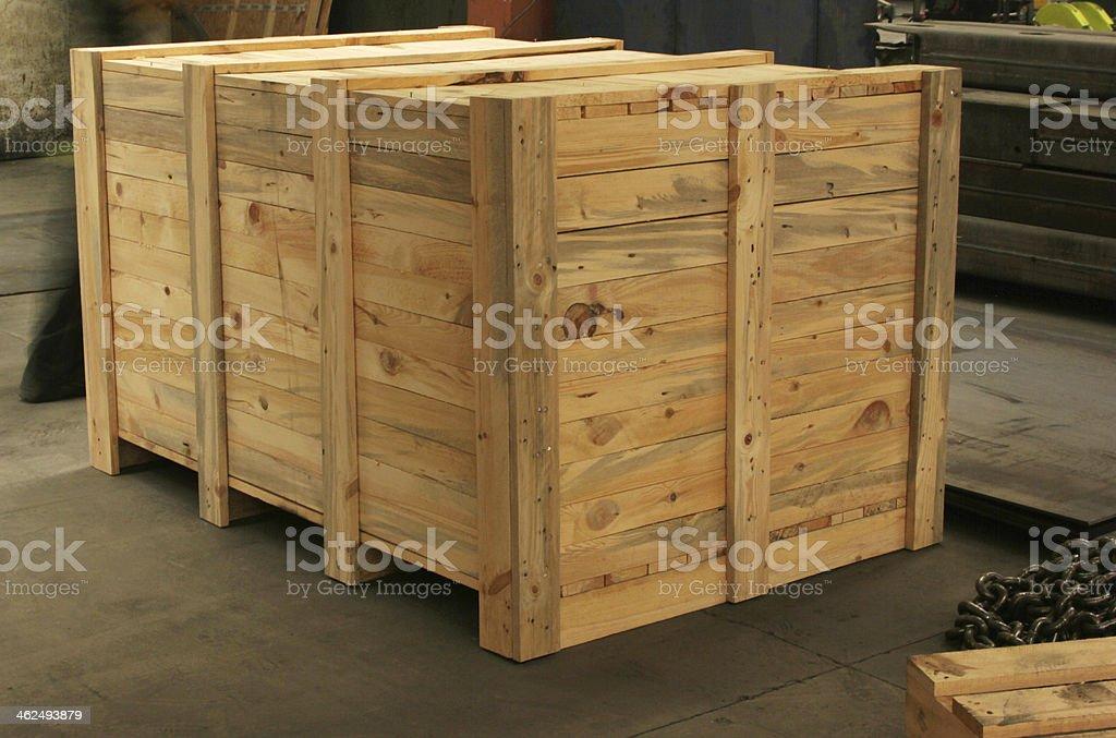 Wooden Case stock photo