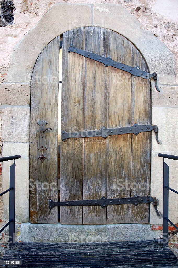 Wooden Entrance to some medieval Castle