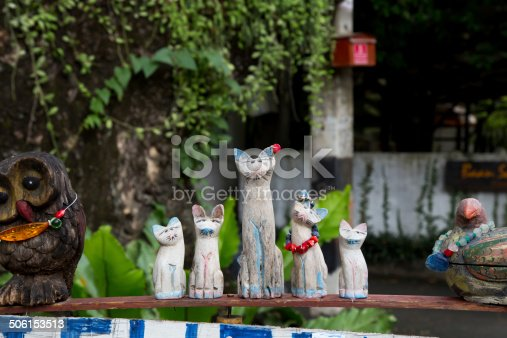 824824466 istock photo Wooden cat. 506153513