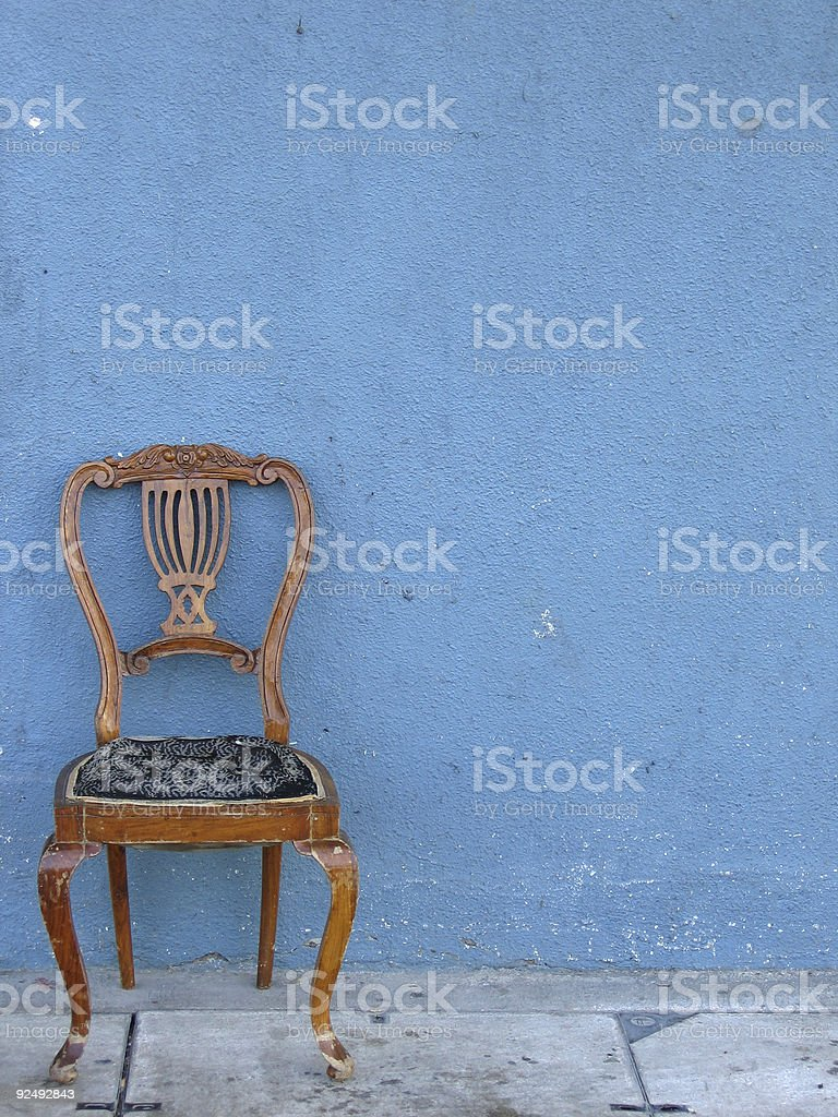 wooden chair alone royalty-free stock photo
