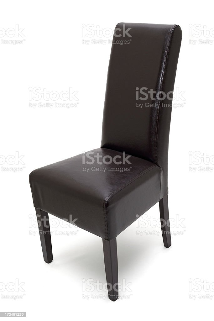 Wooden chair isolated stock photo