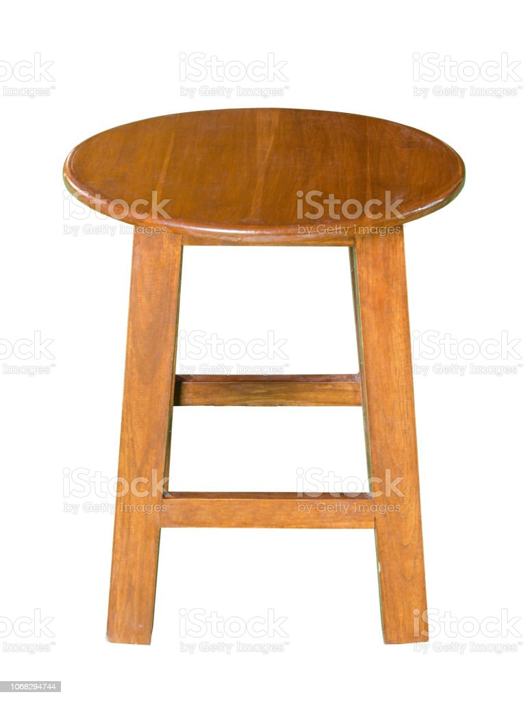 Remarkable Wooden Chair Or Wooden Stool Isolated On White With Clipping Path Stock Photo Download Image Now Caraccident5 Cool Chair Designs And Ideas Caraccident5Info