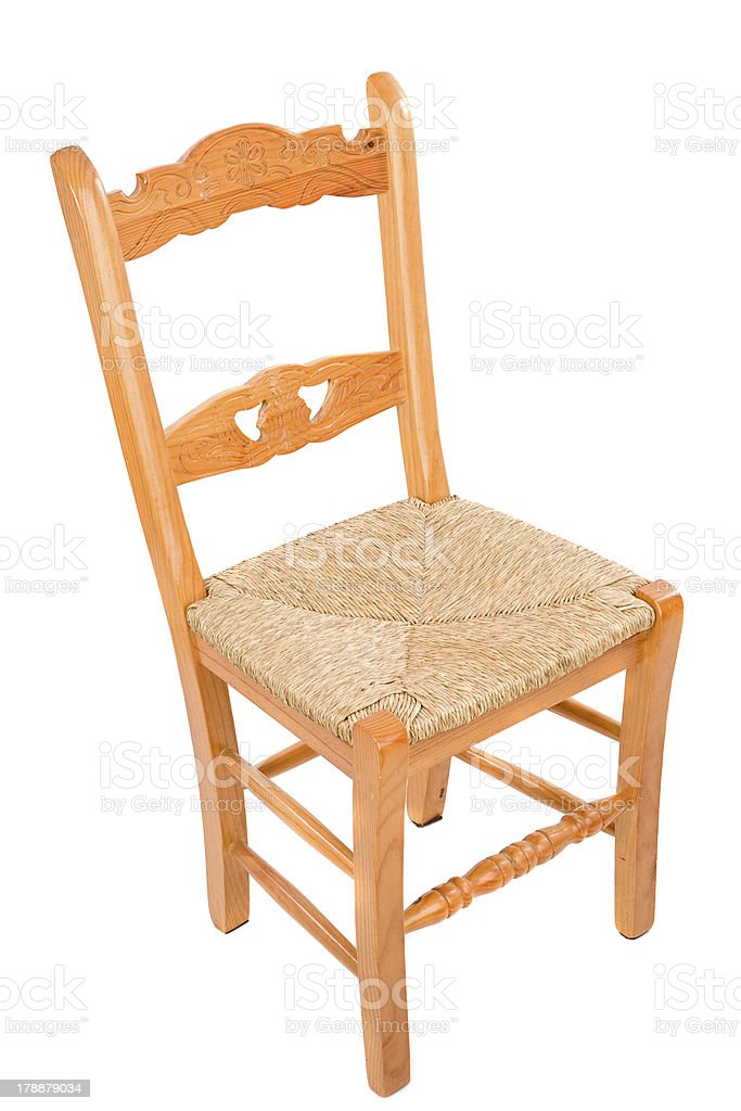 Wooden chairo of home stock photo