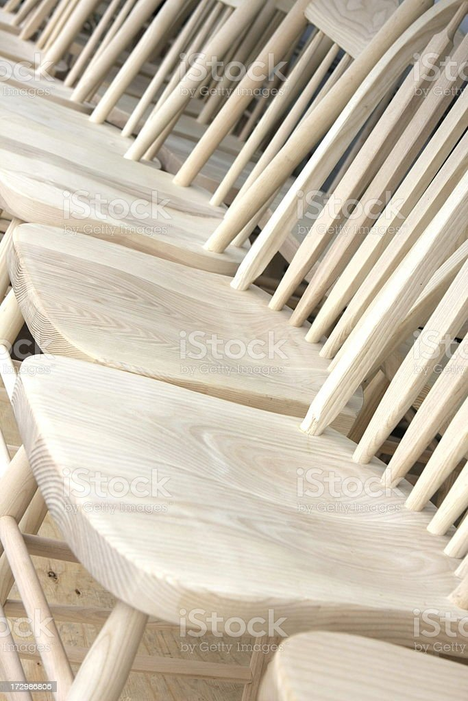 Wooden Chairs royalty-free stock photo