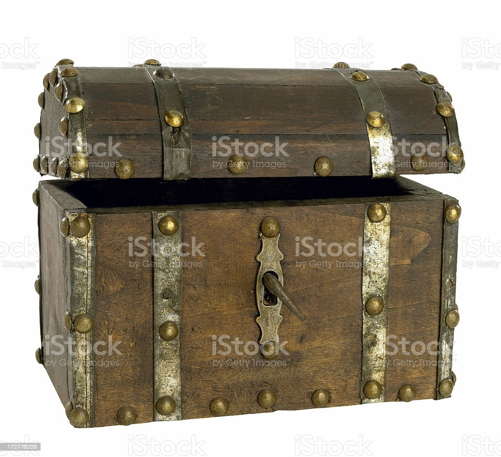 wooden chest stock photo