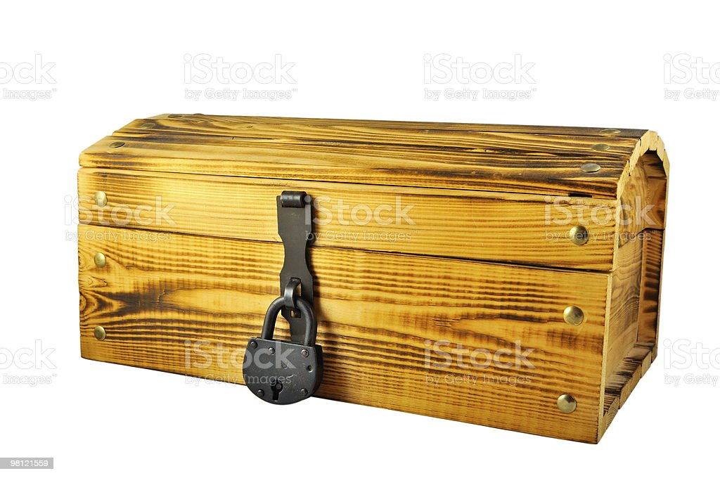 wooden chest royalty-free stock photo