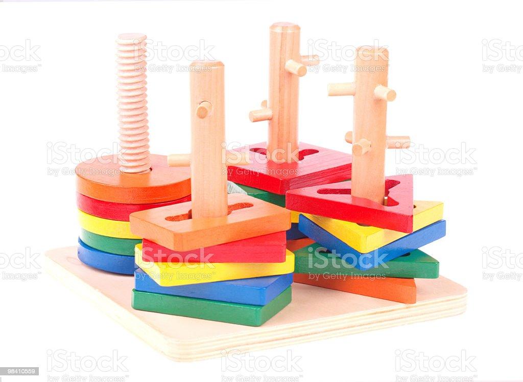 In legno giocattolo bambino foto stock royalty-free