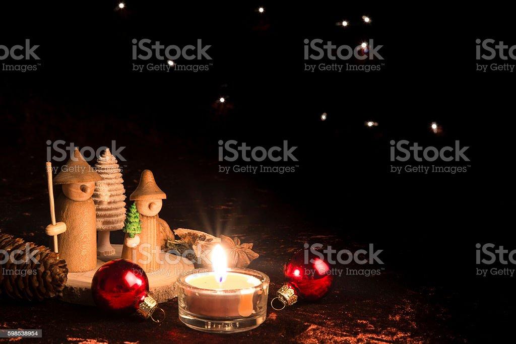 De Noël en bois figure photo libre de droits