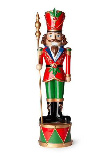 Wooden Christmas Nutcrackers. Photo with clipping path.