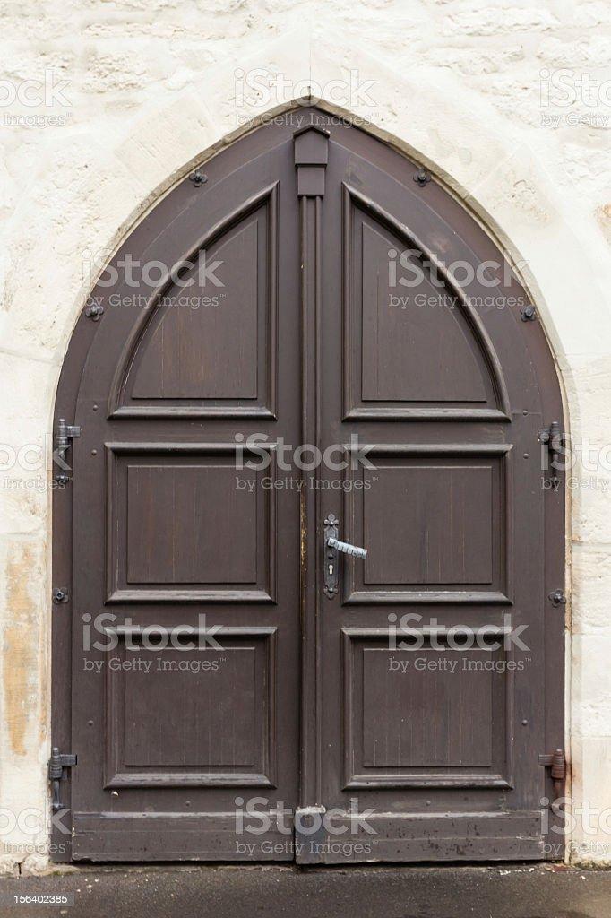 Wooden Church Door royalty-free stock photo