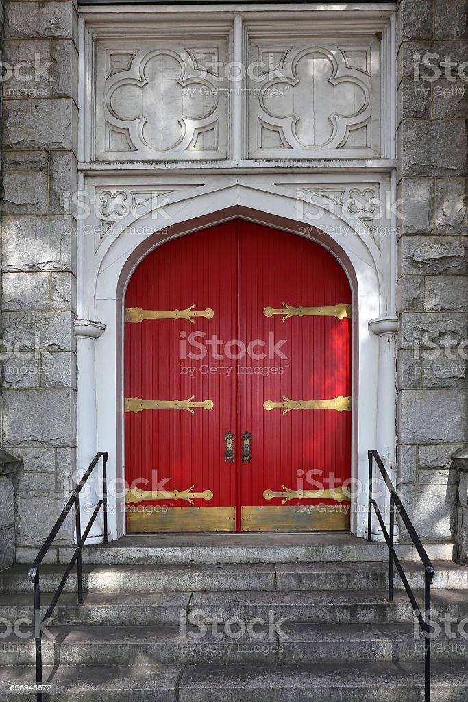 Wooden Church Doors royalty-free stock photo