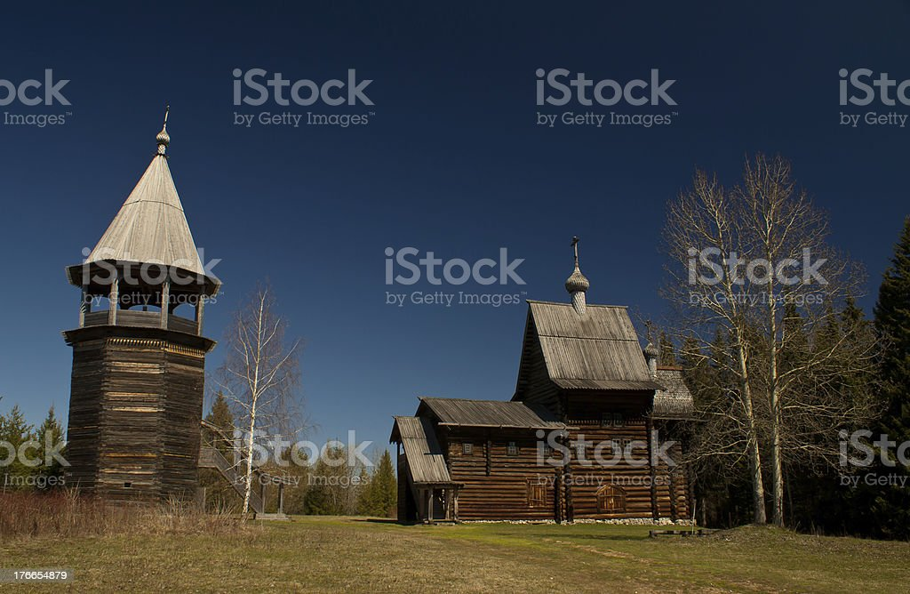 Wooden Church in Perm royalty-free stock photo