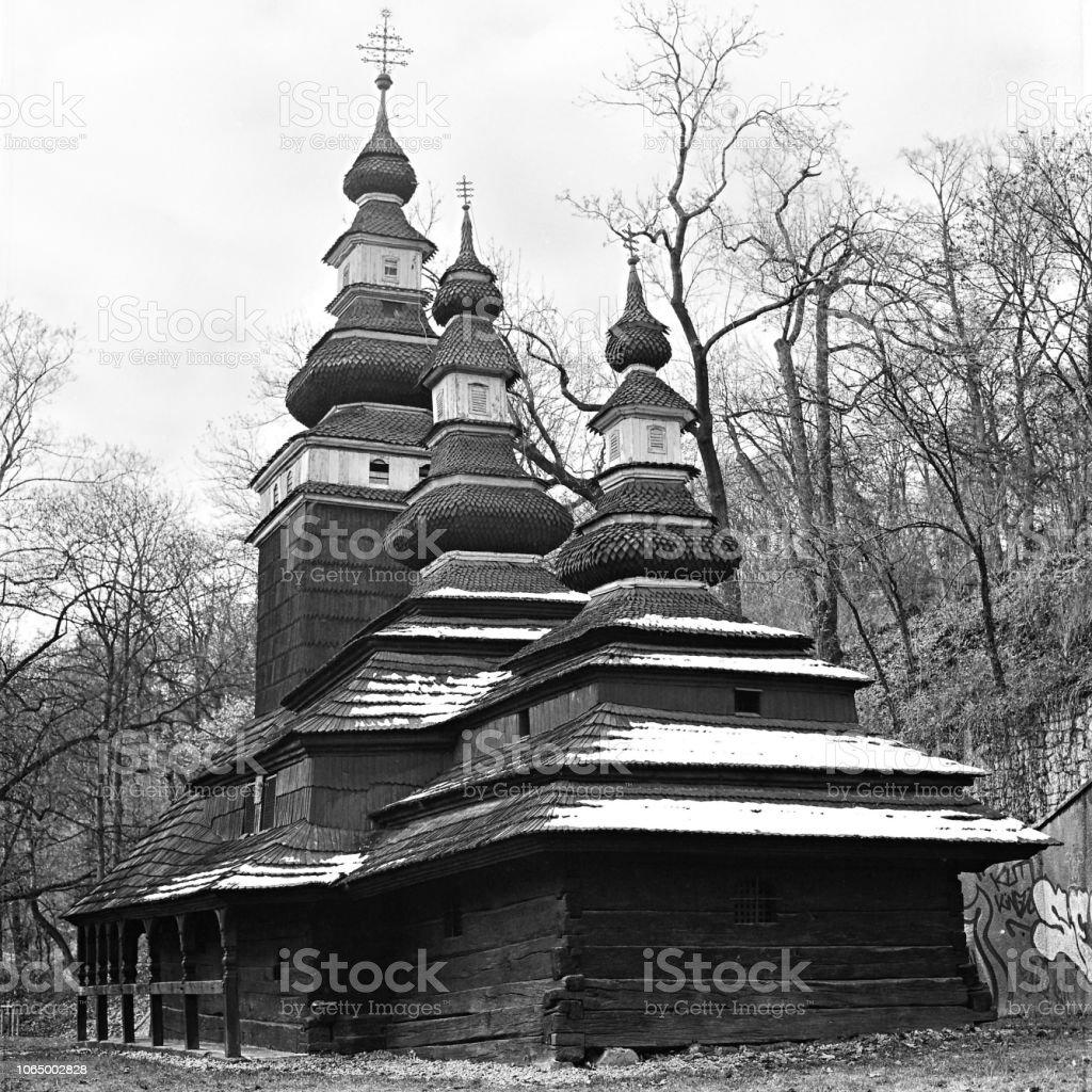 Hölzerne Kirche Heiligen Erzengel Michael auf den Petrin-Hügel, Prag – Foto