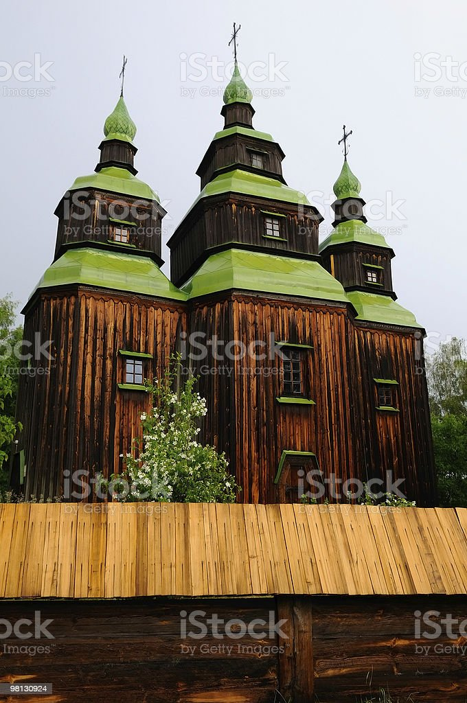 wooden church royalty-free stock photo