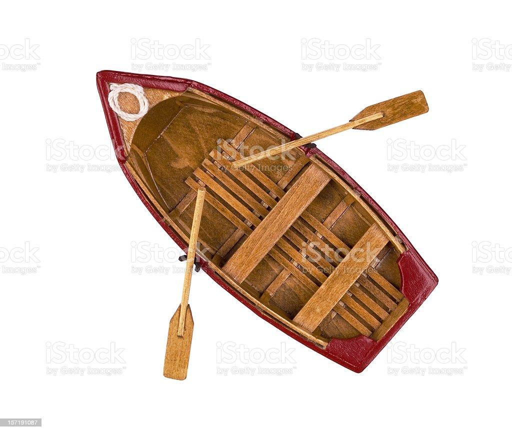 Modelo clássico barco de madeira - foto de acervo
