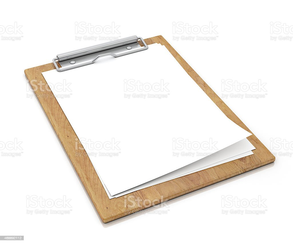 wooden clipboard with blank paper stock photo more pictures of