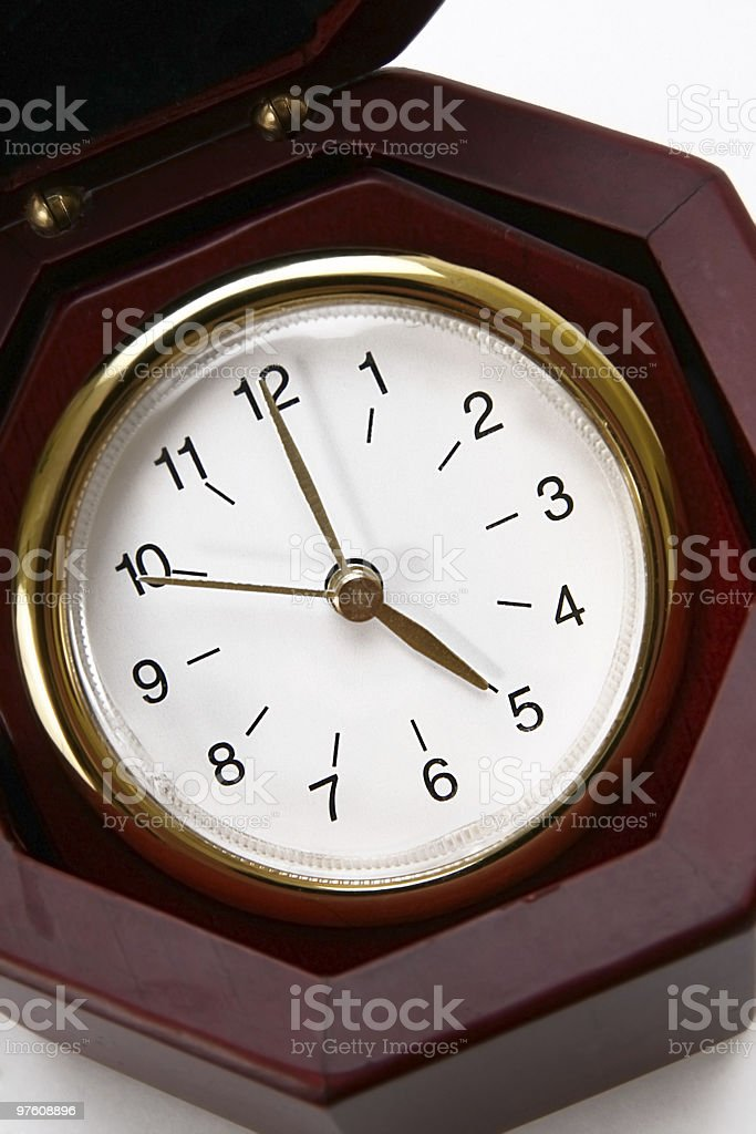 Wooden  clock royalty-free stock photo