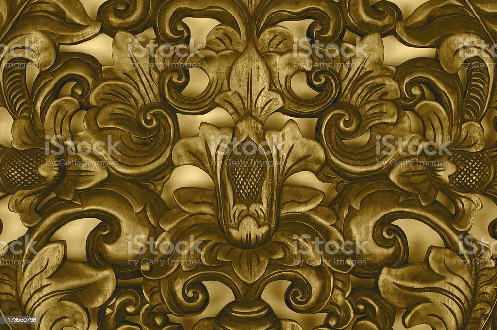 Wooden Coat of Arms royalty-free stock photo