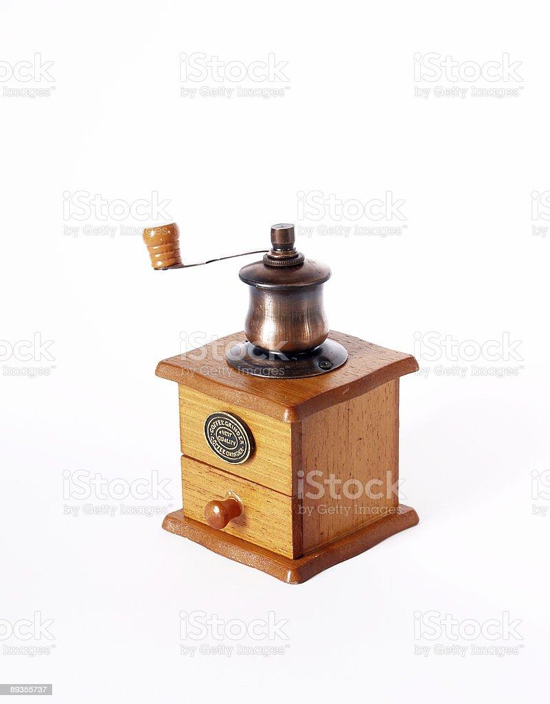 Wooden coffee grinder royaltyfri bildbanksbilder