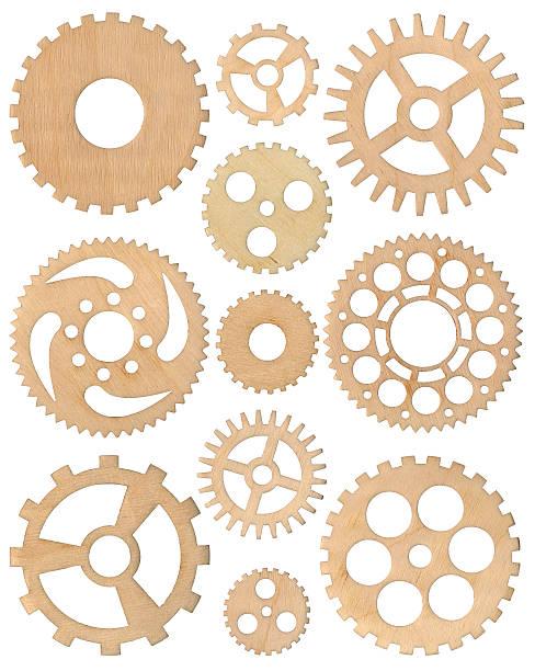 Hölzerne cogwheels set – Foto