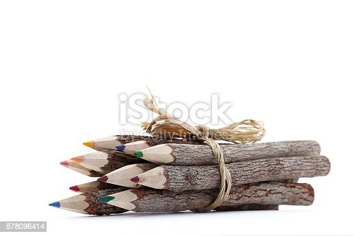 475744392 istock photo Wooden Colored Pencils 578096414
