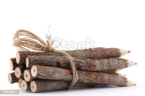 475744392 istock photo Wooden Colored Pencils 578096572