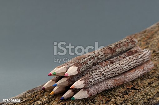 475744392 istock photo Wooden Colored Pencils 578096806